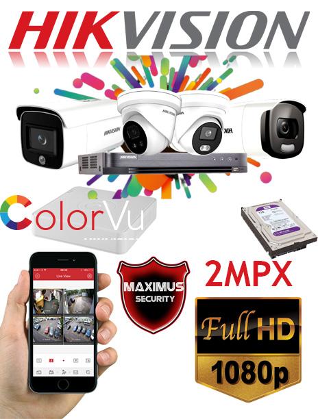 video nadzor 2mpx 4 kamere color vu