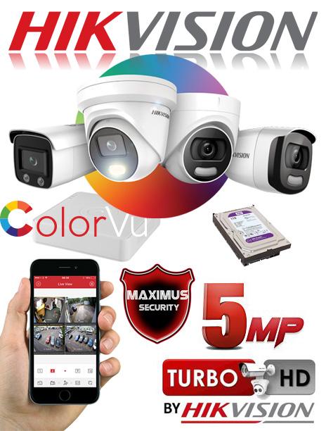 video nadzor 5mpx 4 kamere color vu