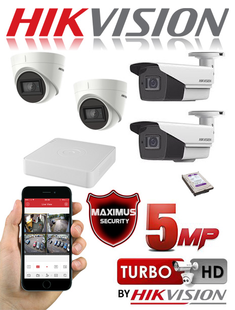 video nadzor 5mpx 4 kamere